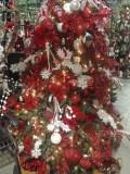 Christmas tree dressed in red, Vandermeer Nursery.