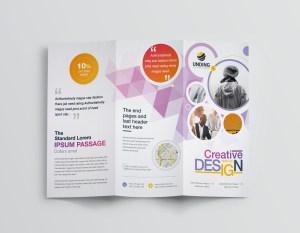 Diamond Professional Corporate Tri-Fold Brochure Template