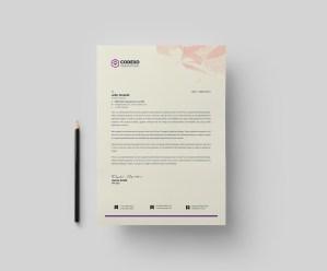 Feminine Stylish Corporate Letterhead Template