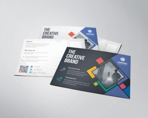 Neptune Professional Stylish Postcard Template
