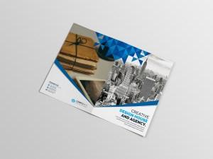 Premium Corporate Bi-Fold Brochure Template