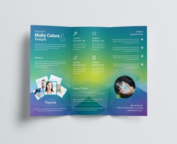 Professional Corporate Tri-Fold Brochure Template