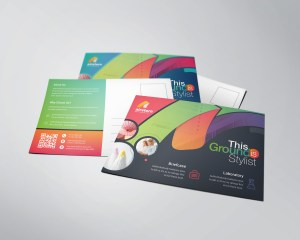 Rainbow Professional Stylish Postcard Template