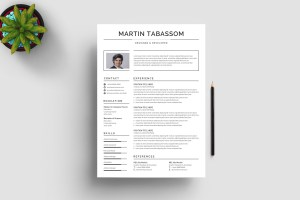 Classic Print Resume Template