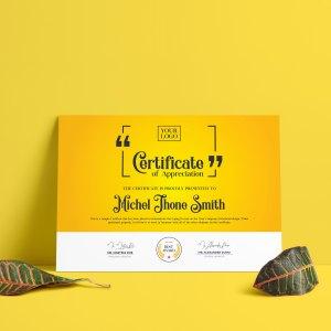 Classy Certificate Design Template