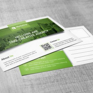 PSD Business Postcards