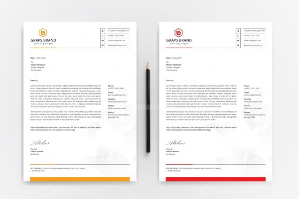 Corporate Letterhead Design Templates