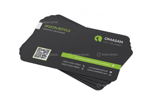 PSD Black Business Cards