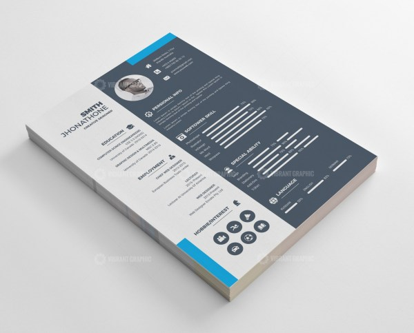 Stunning Resume CV Design