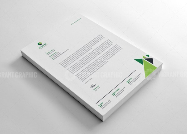 Corporate Letterhead Design Template