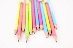 Close up pencils stock photo