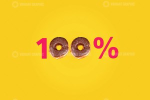 Hundred percent made with doughnut