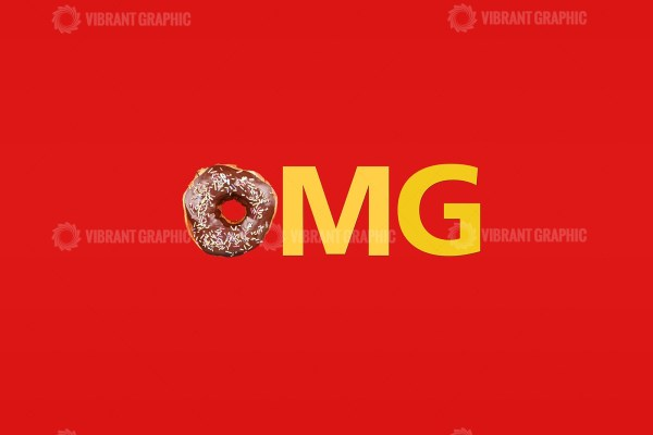 OMG word made with donut stock image