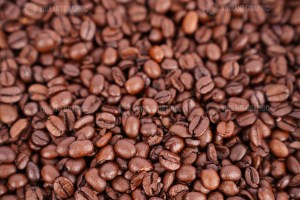 Roasted coffee beans macro photo