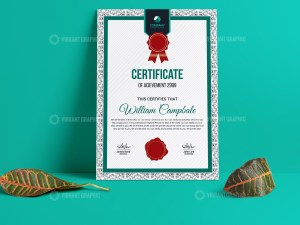 Quality Portrait Certificate Template
