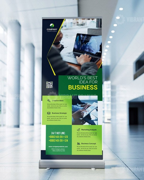 Editable Roll Up Banner Template