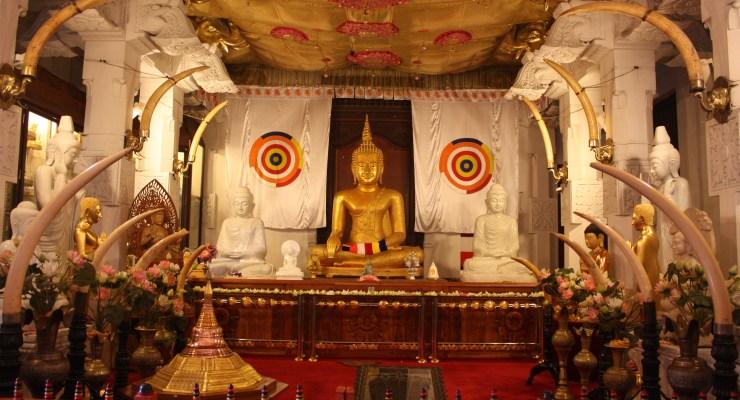 Sri Dalada Maligawa or Temple of the Sacred Tooth Relic in Sri Lanka