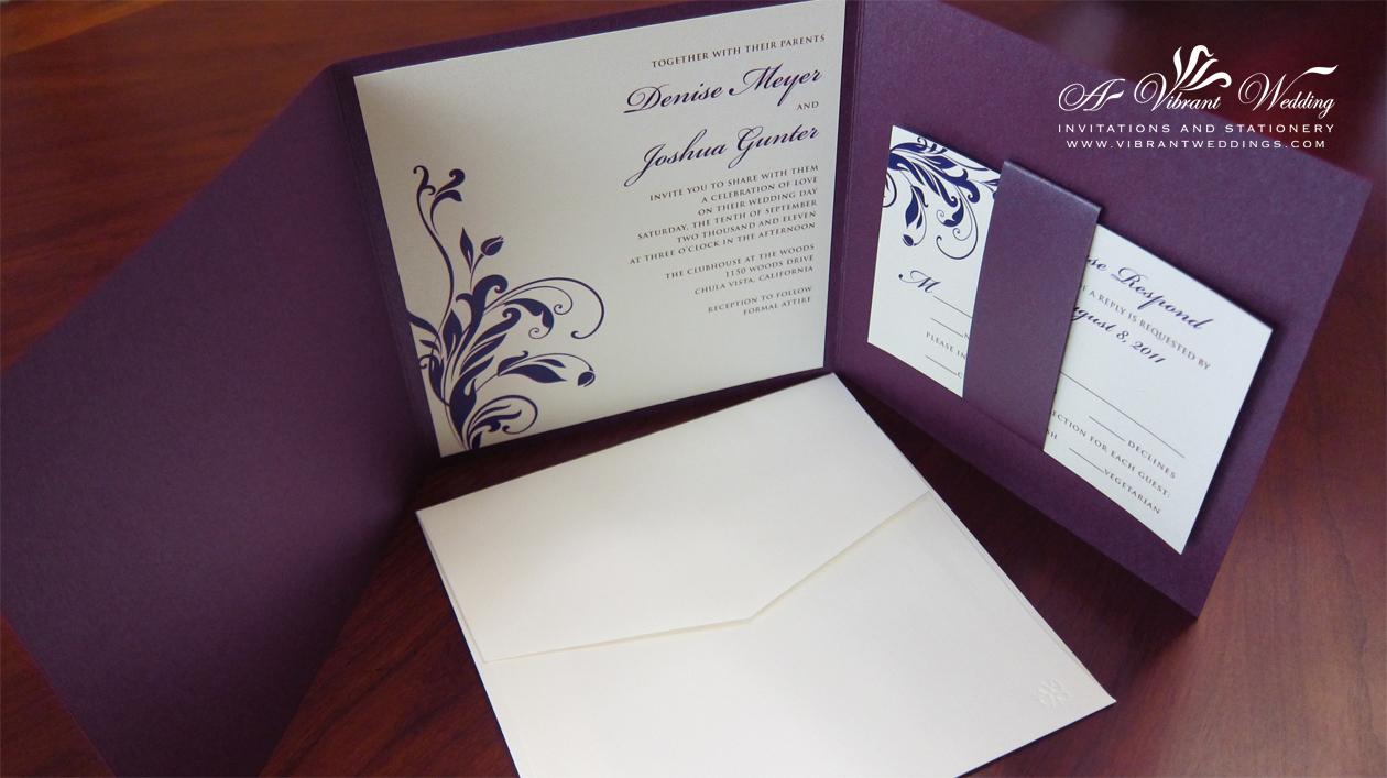 Purple Wedding Invitation  A Vibrant Wedding