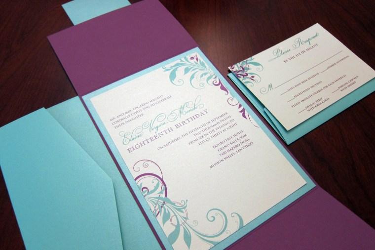 a vibrant wedding invitations