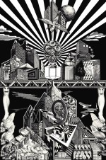 """Construction"" Giclee print on Velvet rag paper. - Edition of 20. - Image size: 19"" x 27"" - 2014"