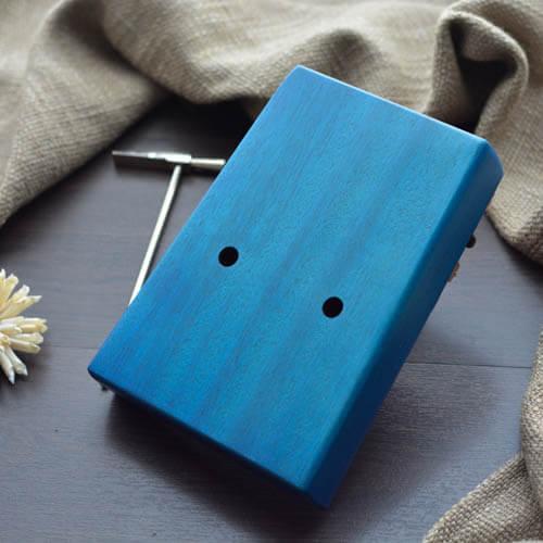 Kalimba 17 Mahogany Classical Blue 06