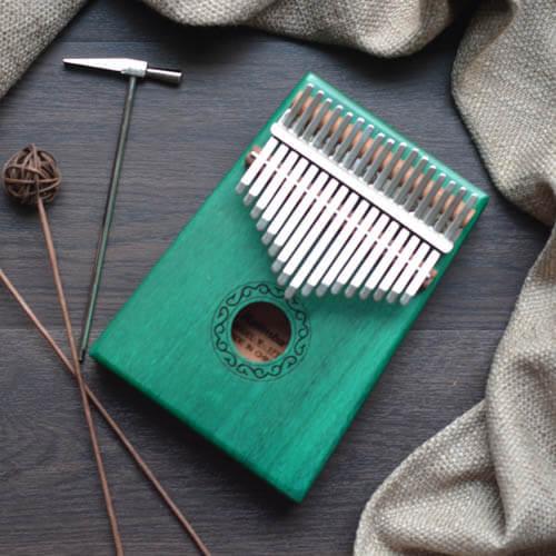 Kalimba 17 Mahogany Classical Green 01