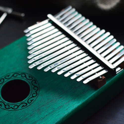 Kalimba 17 Mahogany Classical Green 04