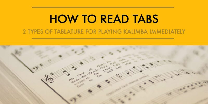 how to read tabs poster