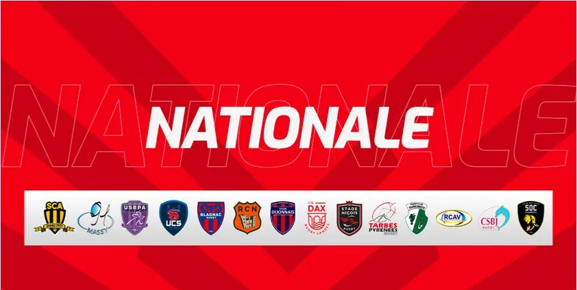 Rugby-Nationale : Le calendrier des oppositions est disponible