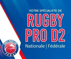 Rugby Pro D2. Tous les résultats et le classement après les matchs de ce week end .