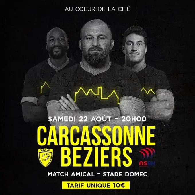 Radio-rugby ProD2 : CARCASSONNE / BEZIERS, suivez le match de préparation en intégralité !