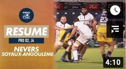 Rugby Pro D2 ( Canal + ) : Le résumé de Nevers / Soyaux-Angoulême