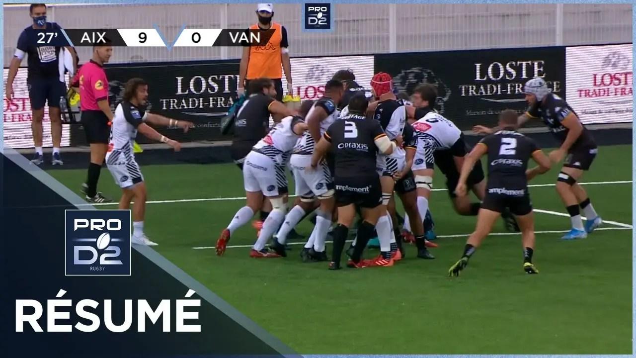 Rugby Pro D2 🎥  : Résumé Provence Rugby-RC Vannes: 24-10 – J2 – Saison 2020/2021