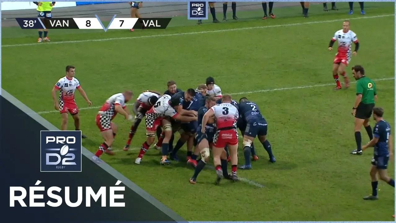 Rugby Pro D2 🎥  : PRO D2 – Résumé RC Vannes-Valence Romans Drôme Rugby: 36-10 – J4 – Saison 2020/2021