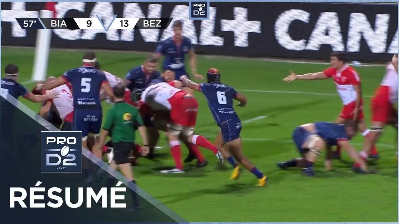 Rugby Pro D2 🎥  : PRO D2 – Résumé Biarritz Olympique-AS Béziers Hérault: 24-21 – J3- Saison 2020/2021