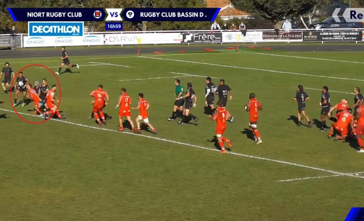 Fédérale 1 , poule 1  ( Niort ) : 🎥 Le joli 3ieme essai face au RCBA, synonyme de bonus offensif