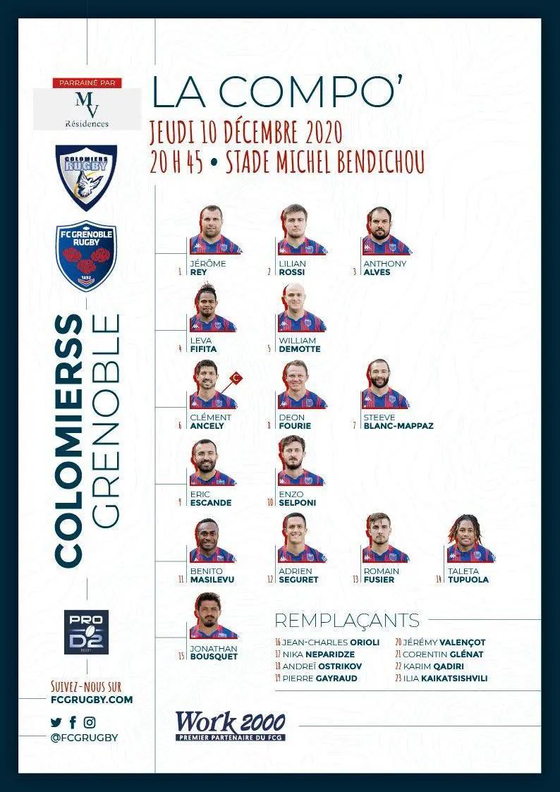 Pro D2 Grenoble: confrontation capitale