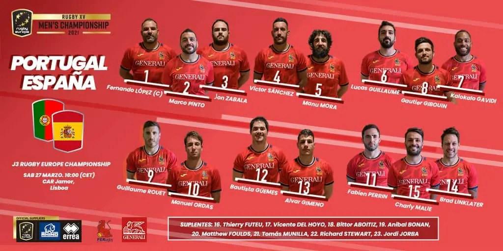 Rugby-International : le XV Espagnol pour le déplacement à Lisbonne
