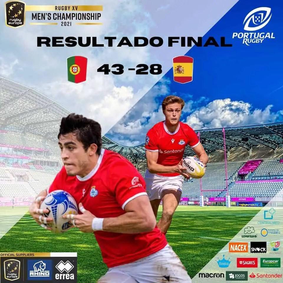 Rugby-International : l'Espagne sombre à Lisbonne (Tournoi B)