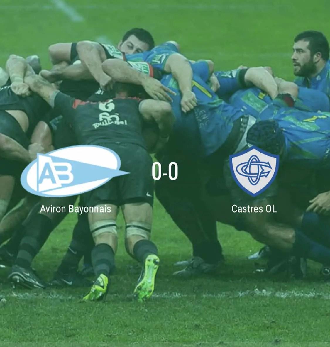 Top 14: compositions des équipes du match en retard Bayonne – Castres jeudi