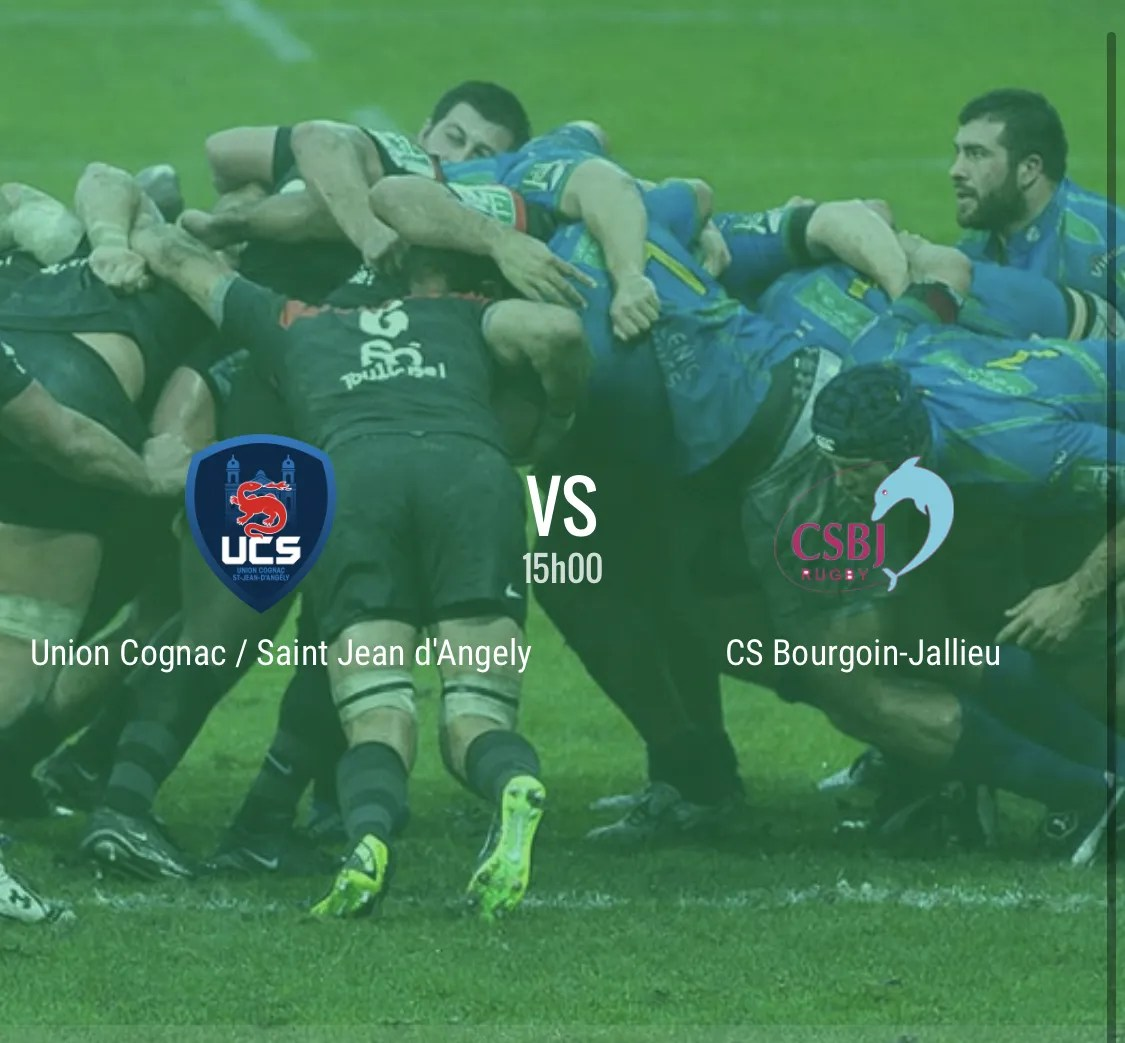 Rugby Nationale : Cognac – Bourgoin ( 41 – 14 )