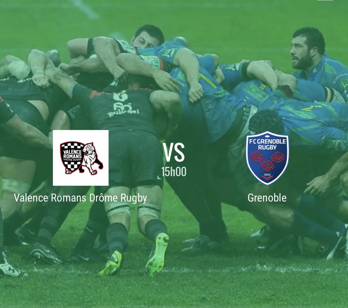 Rugby pro D2 : Valence Romans -Grenoble ( 23 – 30 )