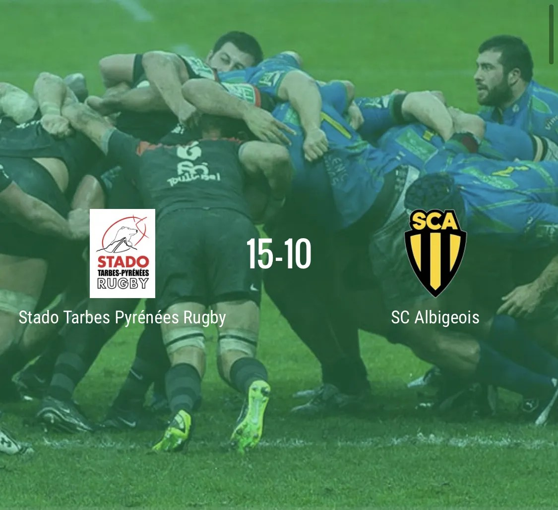 Rugby Nationale : Tarbes -Albi ( 15-10 )