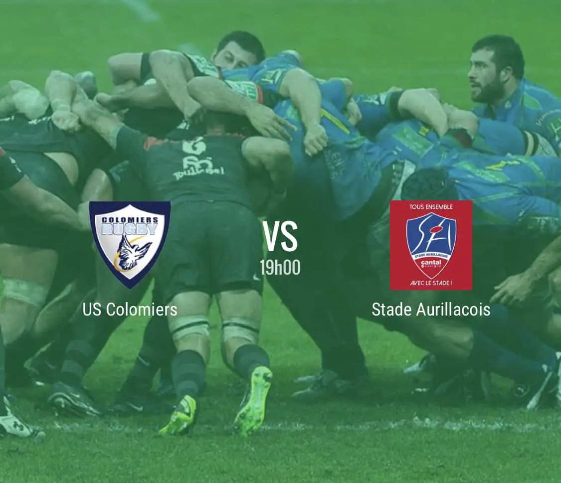 Rugby Pro D2 : Colomiers – Aurillac en direct