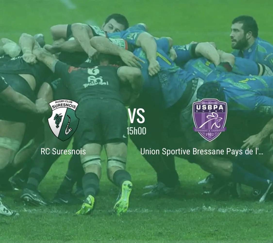Rugby nationale : Suresnes – Bourg en Bresse en direct