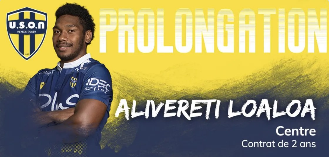 Pro D2 ( Nevers ) : Prolongation de Alivereti LOALOA