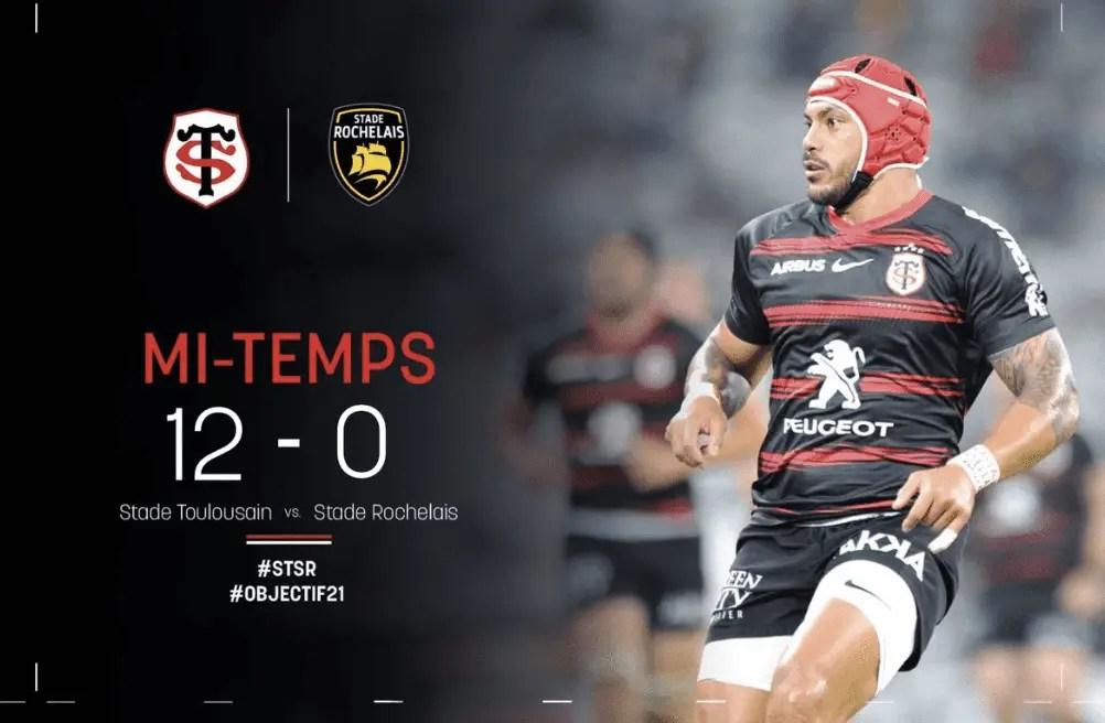 Top 14: Toulouse mène 12-0 devant La Rochelle à la mi-temps