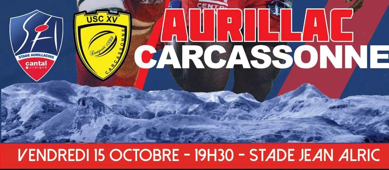 ProD2-Radio Rugby : AURILLAC / CARCASSONNE, écoutez le match en direct (J7)