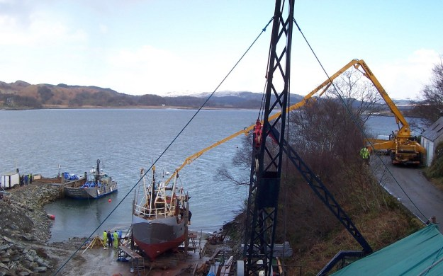 Concrete pouring for new slip