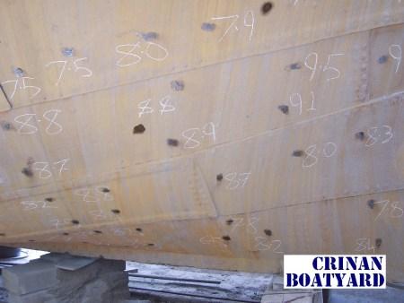 Hull-thickness-markings